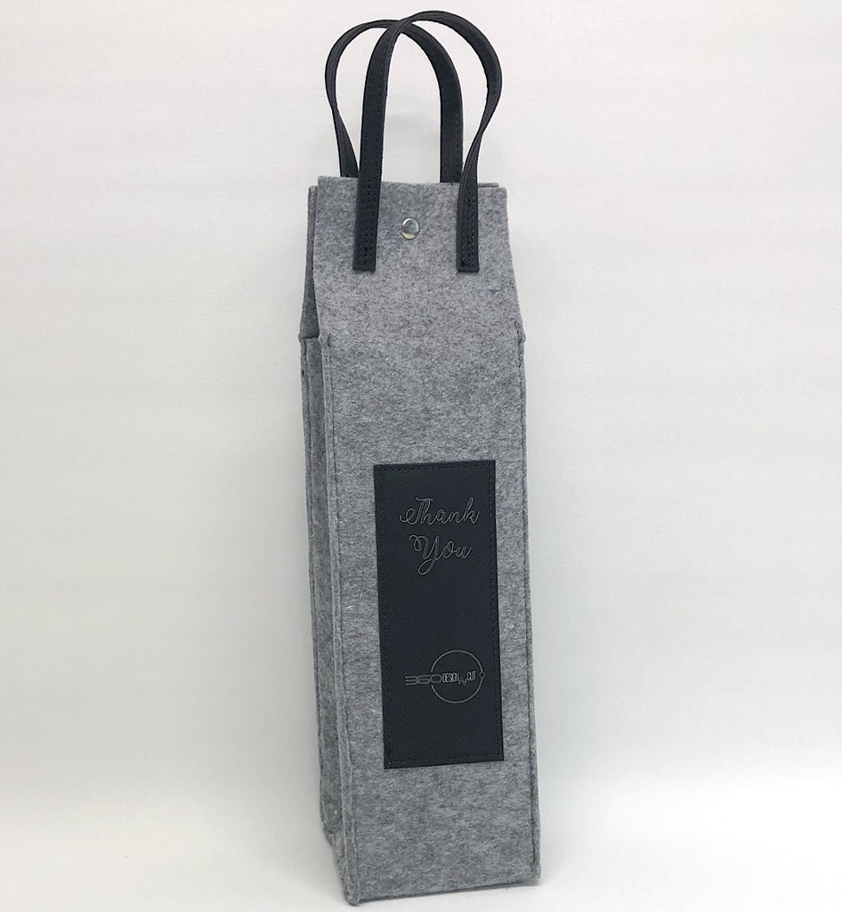 Personalised Flannel Wine Tote