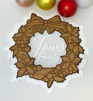 Personalised Front Door Christmas Wreath