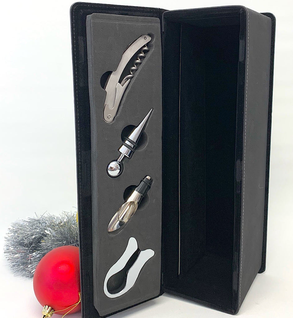 Wine Box with tool set