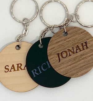 Personalised Wooden Engraved Bag Tags