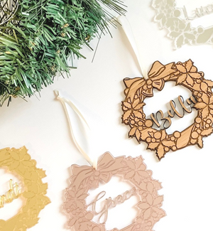 Personalised Christmas Wreath Ornament