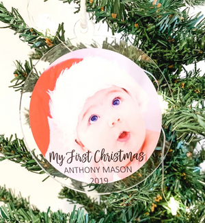 PERSONALISED CHRISTMAS PHOTO ORNAMENTS