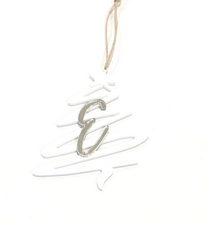 PERSONALISED CHRISTMAS TREE INITIAL ORNAMENTS