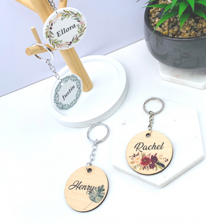 Personalised Botanical Printed Bag Tags