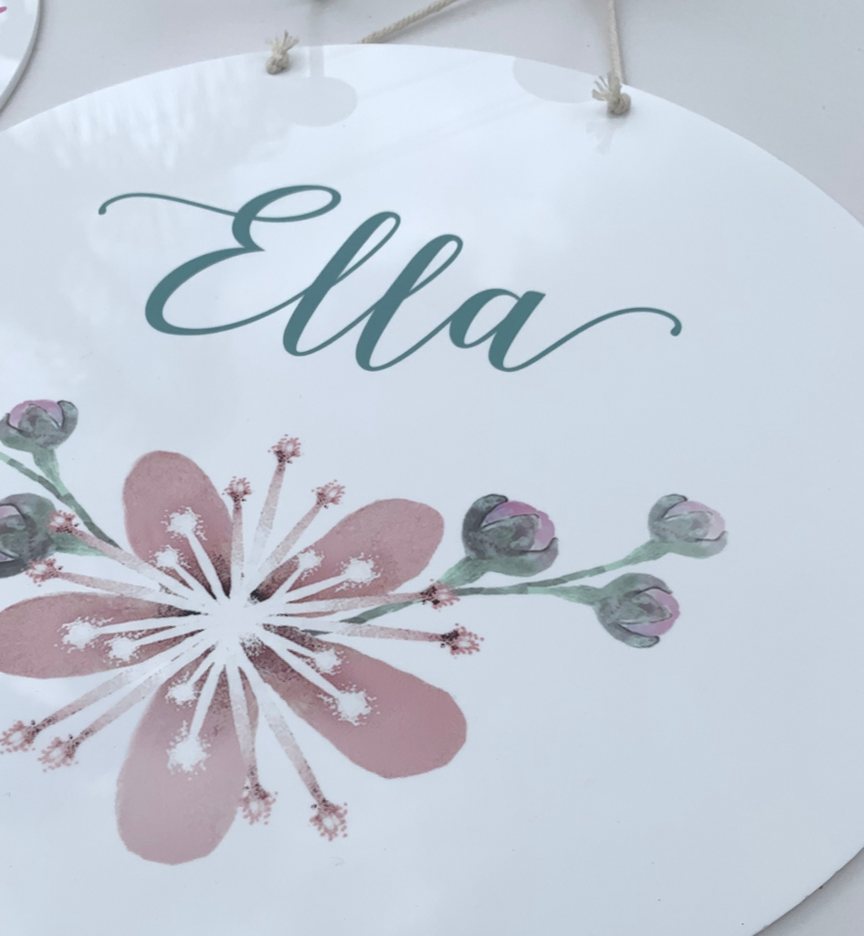 PERSONALISED LARGE PRINTED NAME PLAQUES