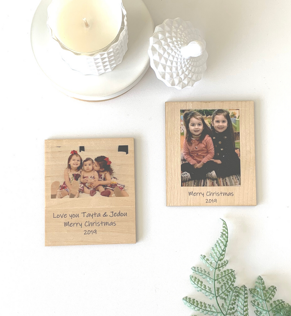 Printed Bamboo Photo Magnet