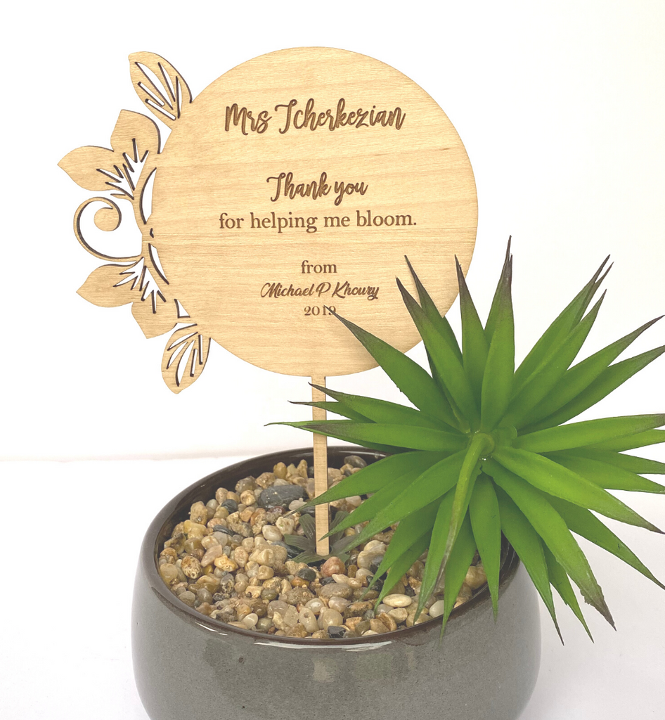 Personalised Teacher Planter Sticks