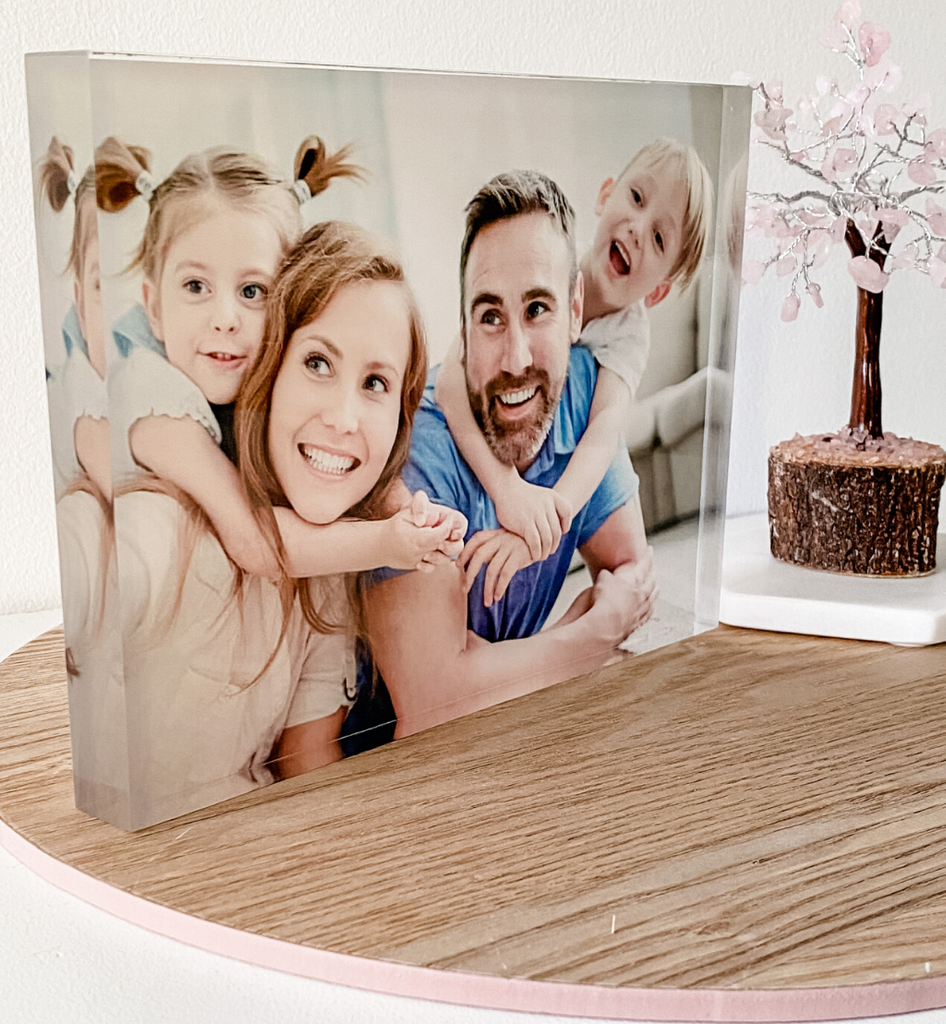 Freestanding Acrylic Photo Block