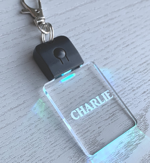 Personalised LED Keychain Keyring