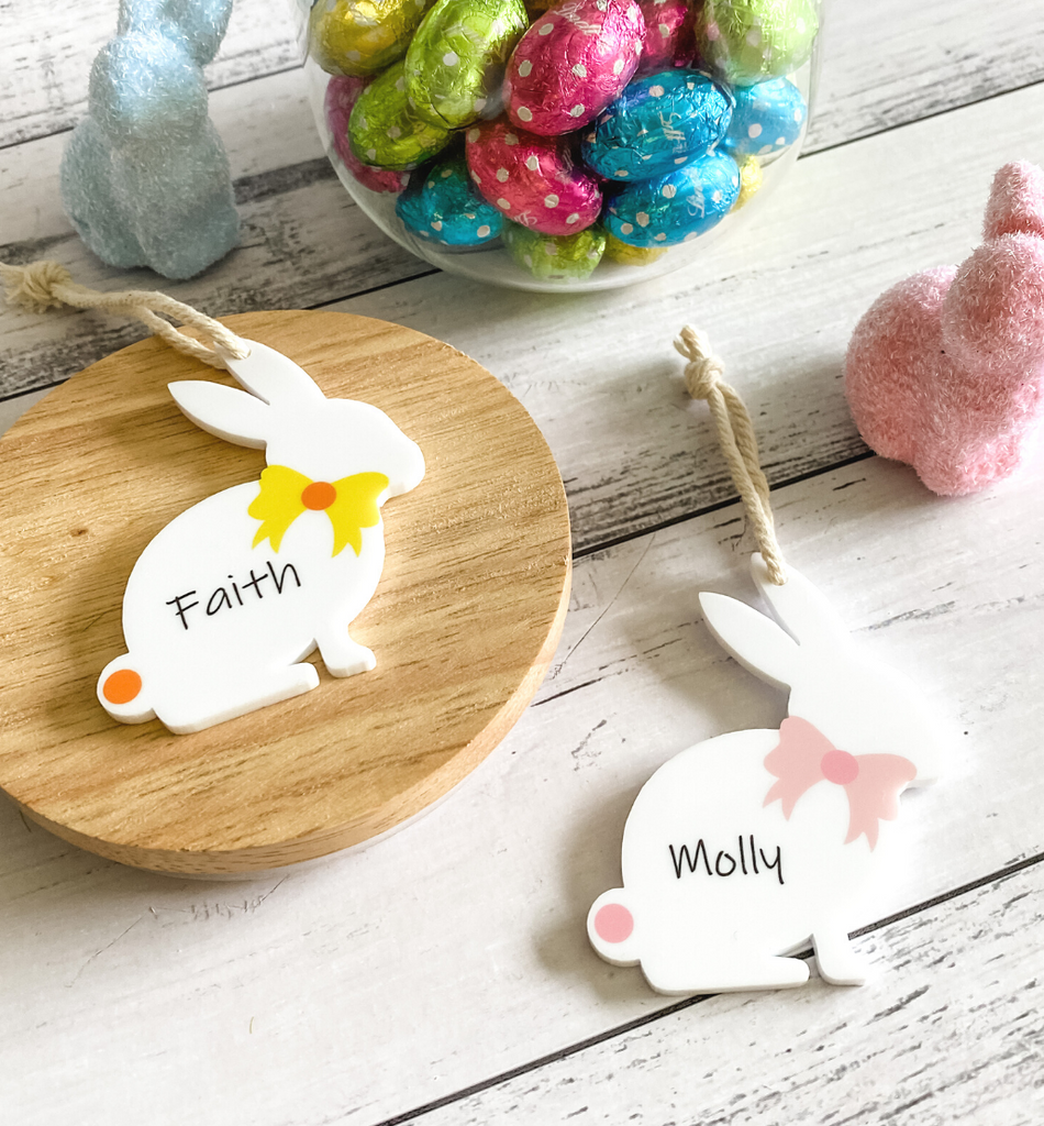 PERSONALISED EASTER BUNNY GIFT TAG