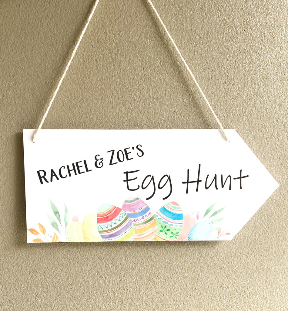 PERSONALISED PRINTED EGG HUNT SIGN