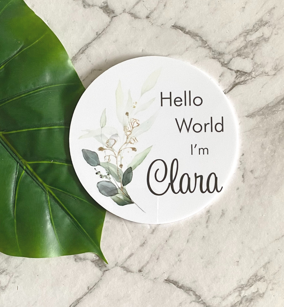 Hello World Personalised Plaque