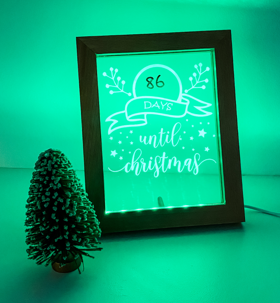 Christmas Countdown LED Frame
