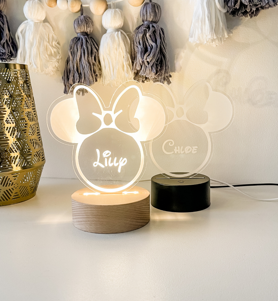 Night Light Personalised Round LED display