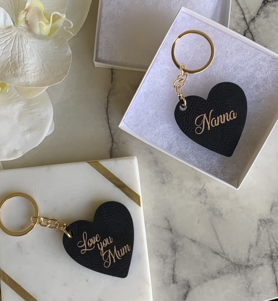 Mother's Day Personalised Leather Special Keyring