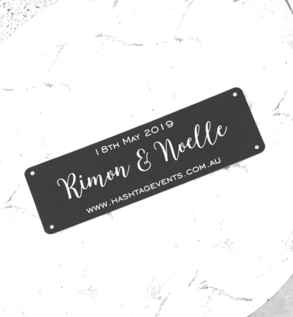 Personalised Wedding Number Plates