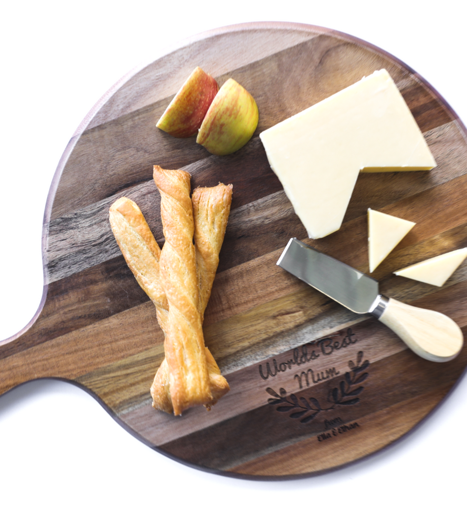 Personalised chopping board Round