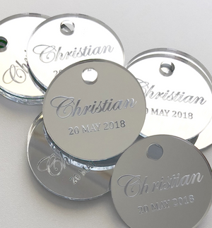 Engraved Favor Tags