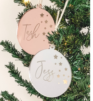 PERSONALISED SOLID ROUND CHRISTMAS ORNAMENT