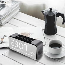 Mirror Bluetooth Speaker Alarm Clock