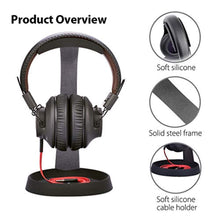 Avantree Aluminum Headphone Stand Headset Hanger with Cable Holder