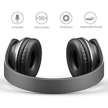 AILIHEN Wired Headphones with Microphone, Stereo Foldable Lightweight On Ear Headset for iOS Android Smartphone Cellphones Laptop Tablet PC Computer