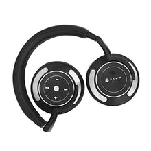 Paww WaveSound 3 Bluetooth Headphones – Active Noise Cancelling Headphones with Airplane Adapter, Charging Cable & Carrying Case – Foldable Travel Headphones/Over-Ear Headphones (Black)