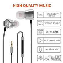 Deivvox Earphones - Wired Earbuds Microphone Mic - in Ear Headphones Earbud Noise Cancelling Isolating in-Ear Earphone Deep Bass Ear Buds Compatible iPhone iPod Samsung Smartphones Tablets 3.5mm
