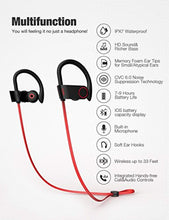 Bluetooth Headphones, Otium Best Wireless Sports Earphones w/Mic IPX7 Waterproof HD Stereo Sweatproof in Ear Earbuds for Gym Running Workout 8 Hour Battery Noise Cancelling Headsets