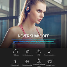 Bluetooth Headphones, Wireless Sports Earphones with Mic, Tested & Proven Best Audio Quality Waterproof & Sweatproof Earbuds in HD Stereo for Gym, Workout & Running, Noise Cancelling