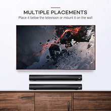 Soundbar, TaoTronics Sound Bars for TV Sound bar Wired & Wireless Bluetooth 4.2 Speakers (25-Inch, Included Optical Cable, Updated Version)