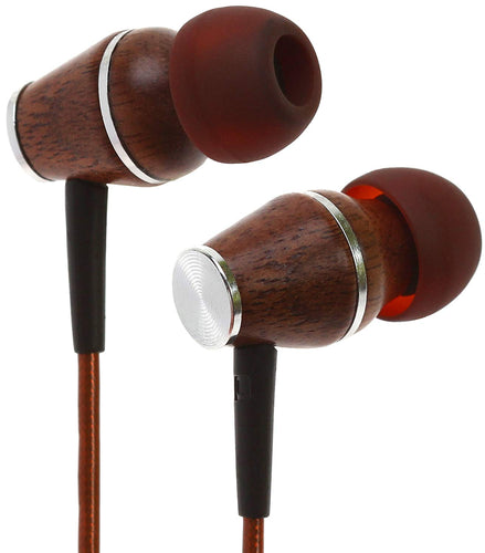 Symphonized XTC 2.0 Earbuds with Mic | Premium Genuine Wood Stereo Earphones | Hand-made In-ear Noise-isolating Headphones with Tangle-free Innovative Shield Technology Cable