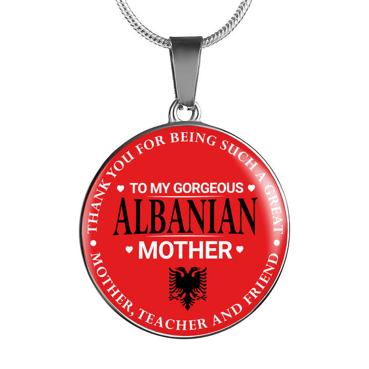 To my albanian mother circle necklace ultrashqip to my albanian mother circle necklace aloadofball Gallery