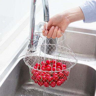 Chef Basket Foldable Strainer Kitchen Tool - HomeEkart