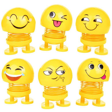 Pack of 20 -  Emotion Figure Smiling Face Spring Doll