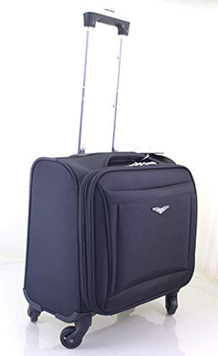 Laptop Trolley Bag Business Luggage Case Black Cabin Suitcase Travel 4 Hand Wheel Briefcase Carry Office Wheeled Wheels - HomeEkart