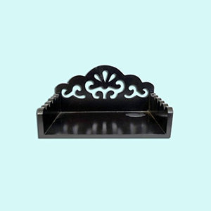 Classy Wooden Set Top Box Holder (Black) - HomeEkart