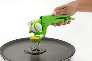 PACK OF 10 Handy Egg Opener/Cutter/Cracker with Separator, Green - HomeEkart