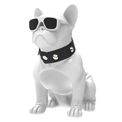 Full Aerobull Nano Wireless Bluetooth Speaker Deep Bass Bulldog Music Player White - HomeEkart