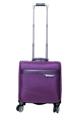 Bag Laptop Trolley Case Business Cabin Wheeled Briefcase Travel Roller 4 Spinner Office Hand Luggage Leather - HomeEkart
