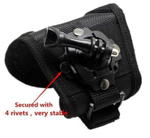360 Degree Rotating Band Glove Style Camera Wrist Strap Hand Mount for Gopro, SJcam Action Camera - HomeEkart
