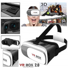 3D VR Headset Virtual Reality Box with Adjustable Lens and Strap Compatible with All Smartphones (White) - HomeEkart