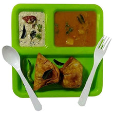 Plastic Paubhaji Plate 3 In 1 [BIG