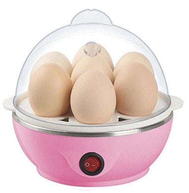 Egg Boiler Electric Automatic Off 7 Egg Poacher for Steaming, Cooking, Boiling and Frying, Multicolour - HomeEkart