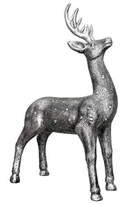 Silver Plated Decorative Poylresin Deers Statue