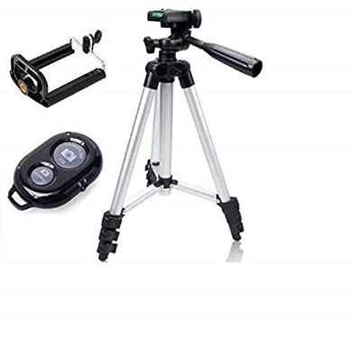Portable & Foldable DK 3888 Camera Mobile Tripod with Bluetooth Wireless Remote