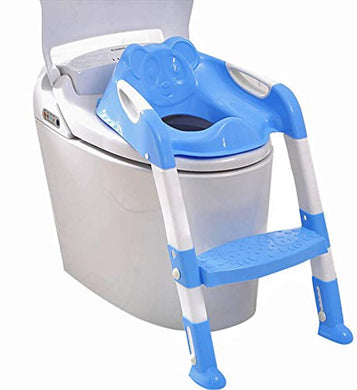BULK 2 In 1 Training Foldable Ladder Potty Toilet Seat for Kids (Blue) - HomeEkart