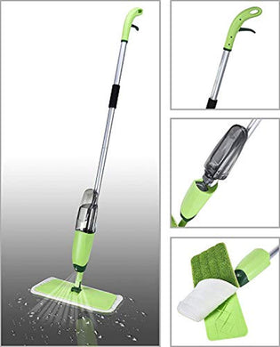 Bulk Quick and Easy Aluminium Spray Mop with Best 360 Degree Floor Cleaning for Home and Office (Green) - HomeEkart