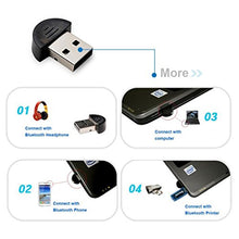 Pack Of 10 Mini Bluetooth Wireless USB 2.0 Dongle Adapter for Computer & Laptop - HomeEkart