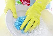 Rubber Hand Gloves Reusable Washing Cleaning Kitchen Garden (Color May Vary) (Large, 10 Pairs)
